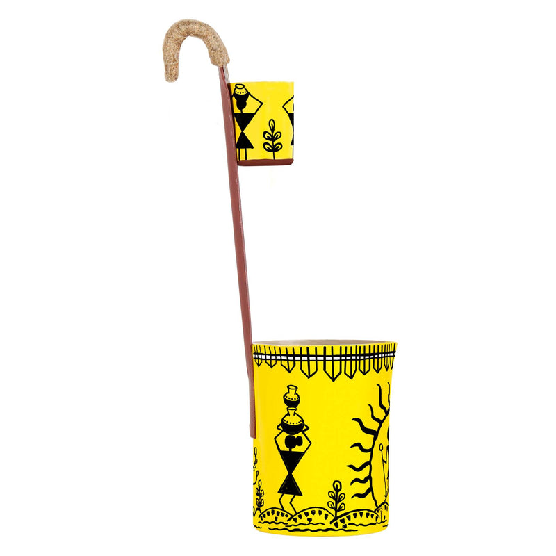 Cool pen holders warli hamlet hand painted multicolor pen stand online buy pulpypapaya