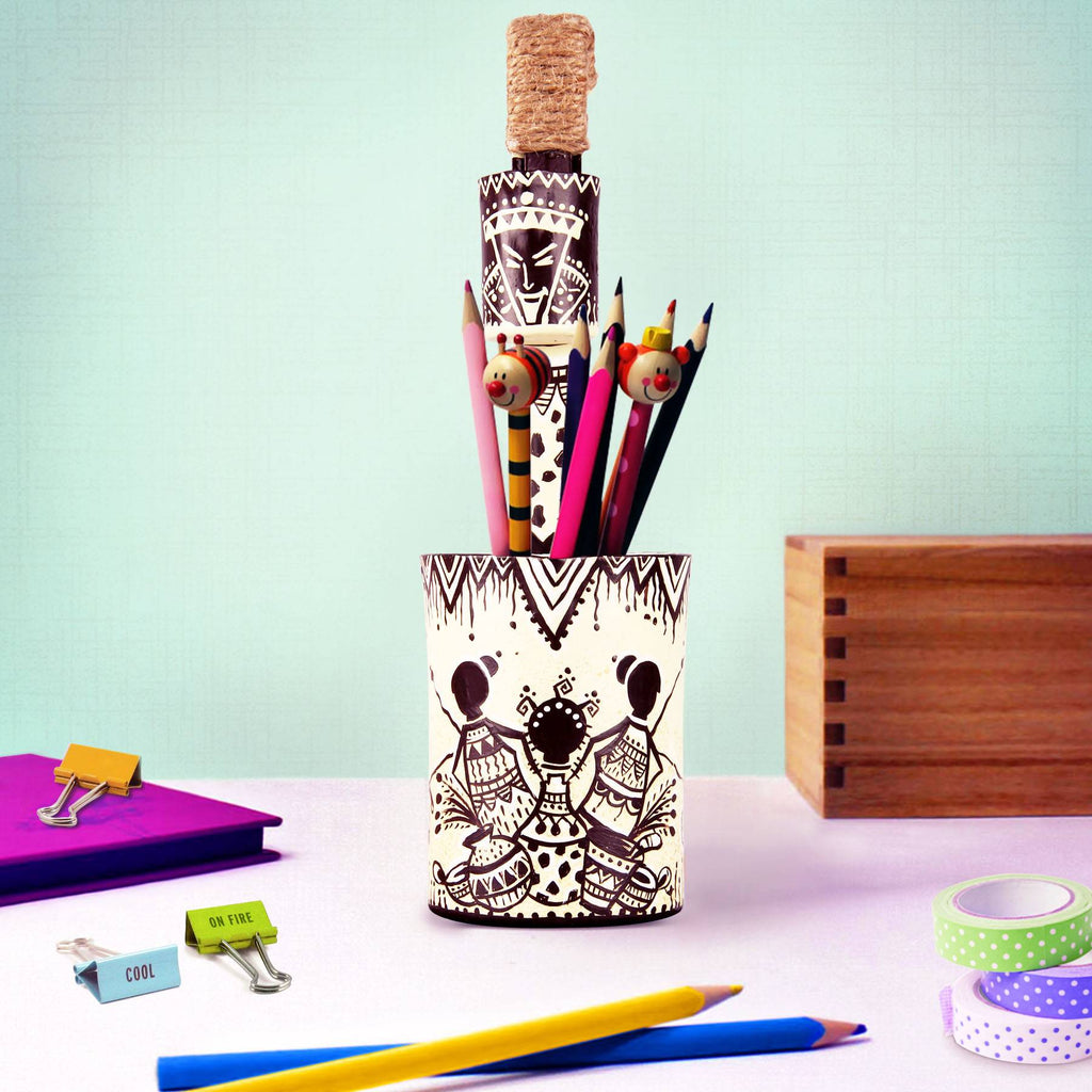 Online buy pen pot afro fiesta pen holder pen stand pulpypapaya art store