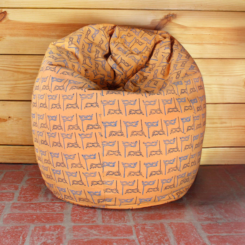 Peach Eyes Bean Bag Cover