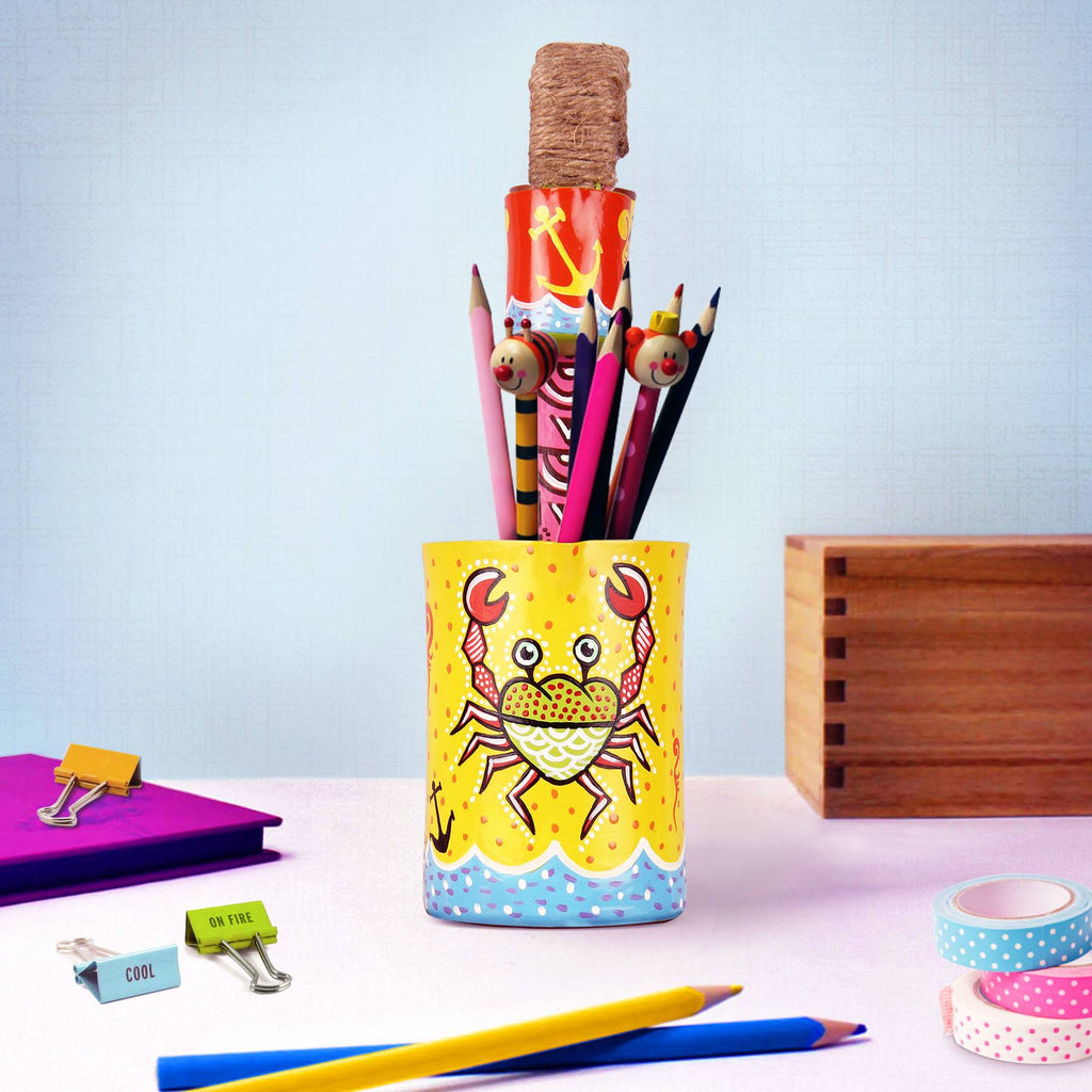 Pen holder online Buy crabby pen handmade stand pulpypapaya