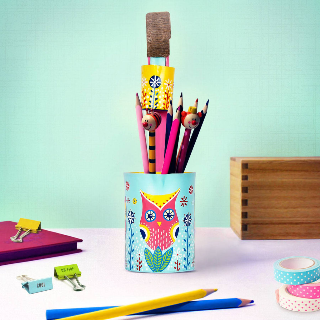 Pen holder store near me mexi owl hand painted pen holder pulpypapaya