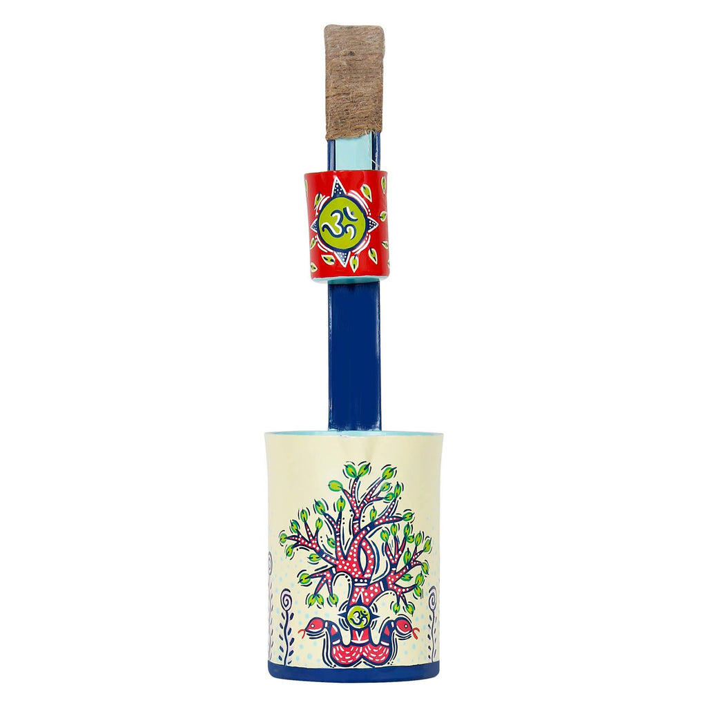 Lucky tree hand painted gond art pen holder pen stand online buy pulpypapaya