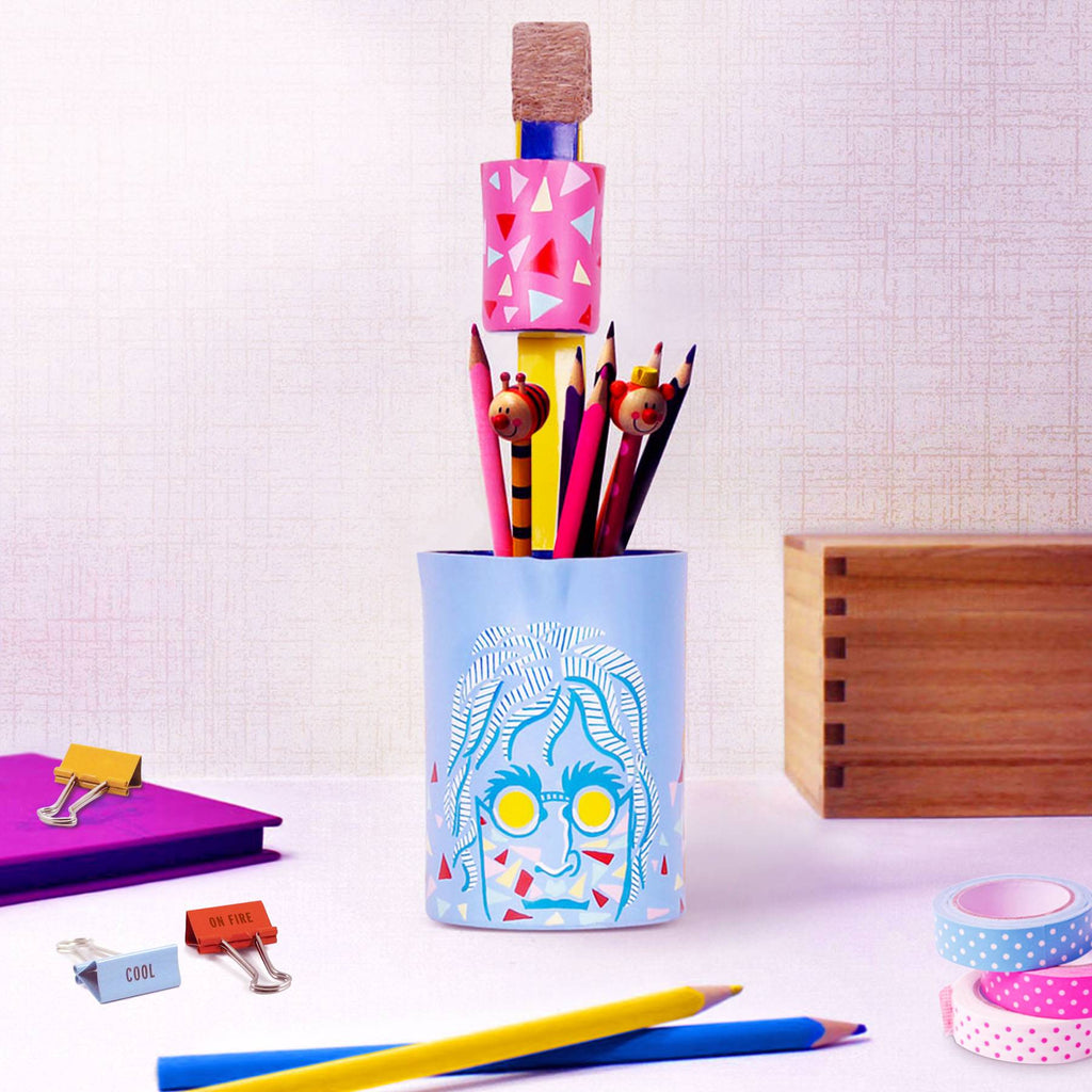 Pencil case imaginehand painted desc accessories pen holder online buy pulpypapaya