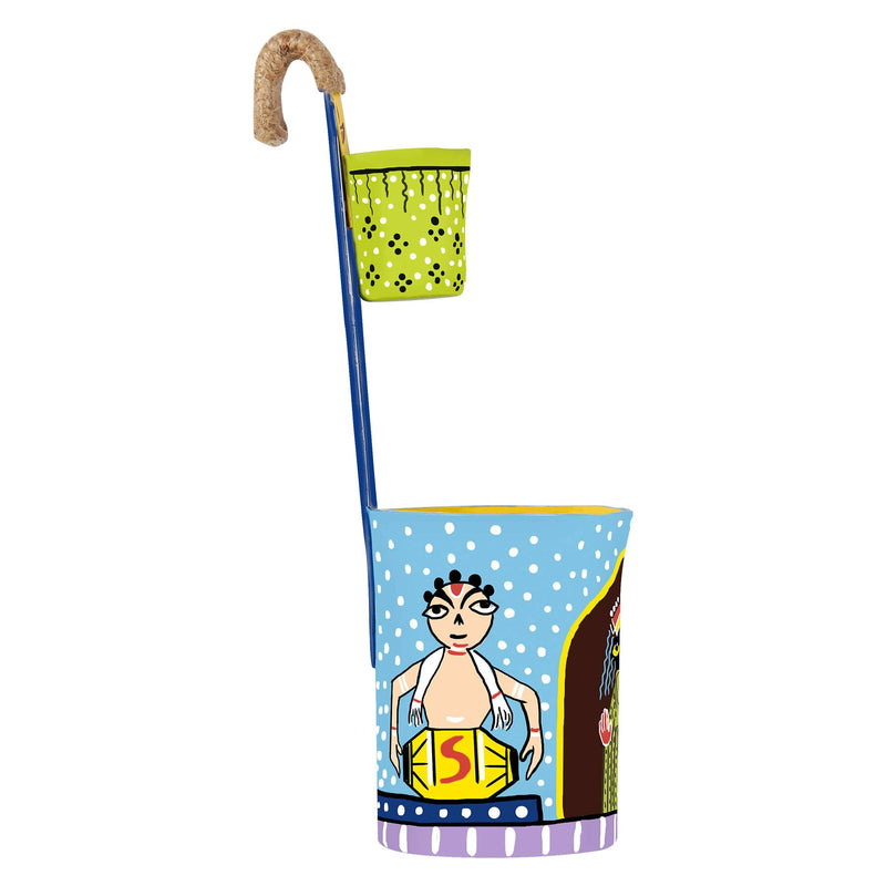 Kaalighat art decorative items online buy pen stand pulpypapaya