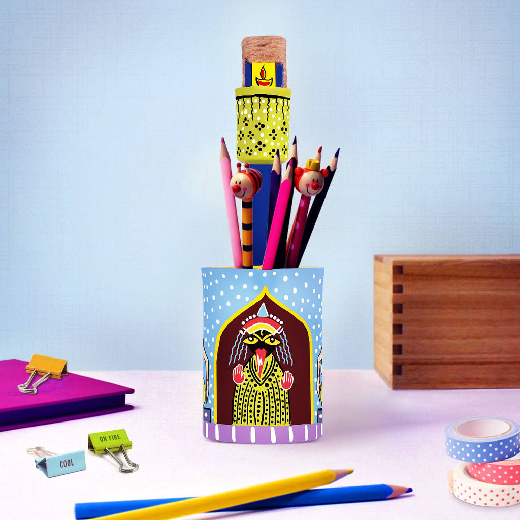 Personalised gift ideas kaalighat hand painted artistic pen holder online buy pulpypapaya