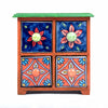 Pottery-gift-blue-pottery-tetrad-hand-painted-four-drawer-chest-online-buy-pulpypapaya