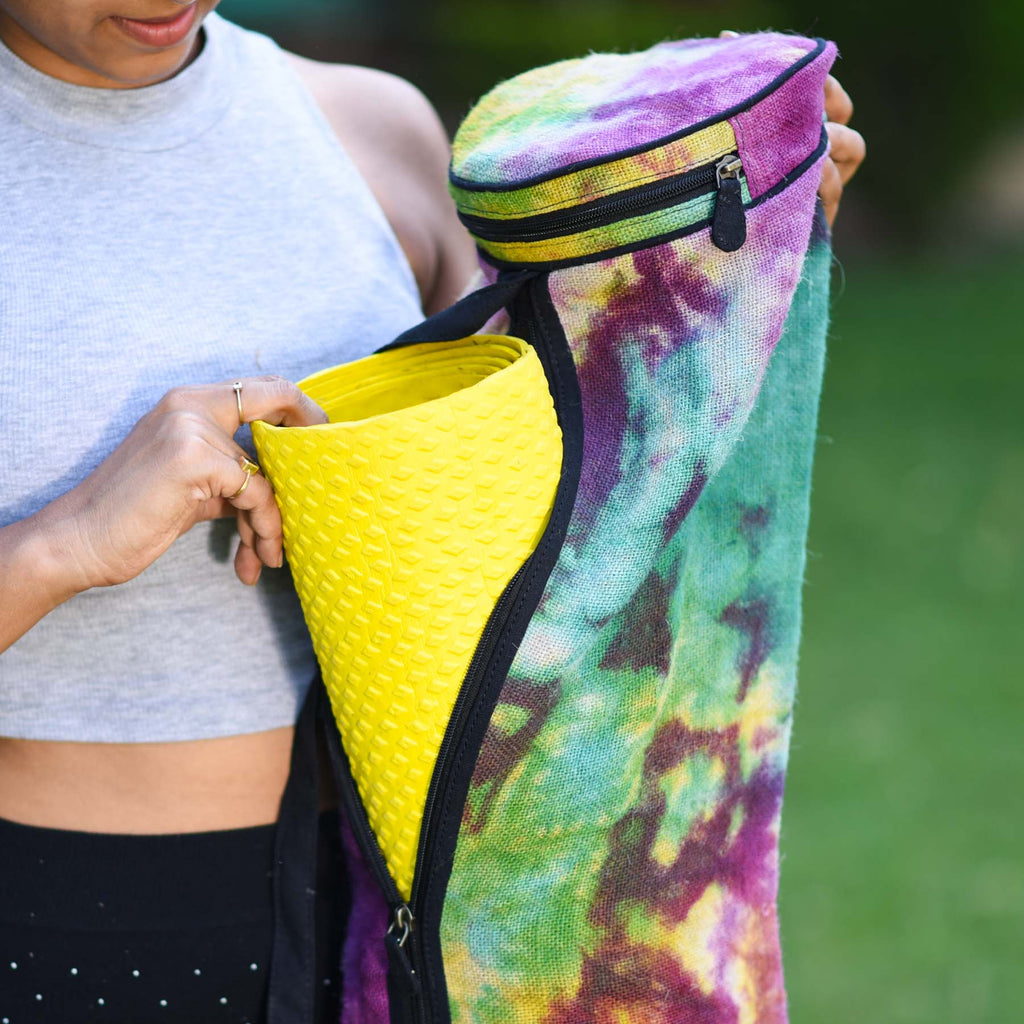 Rasta Jute Yoga Mat Bag