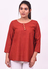Red Affair Flared Top