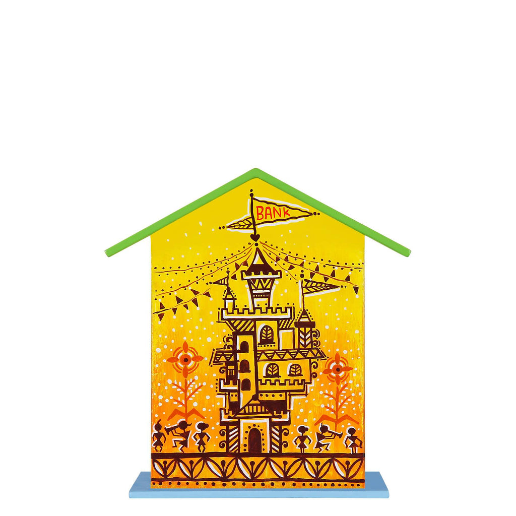 warli-art-handpainted-wooden-piggy-bank-online-india
