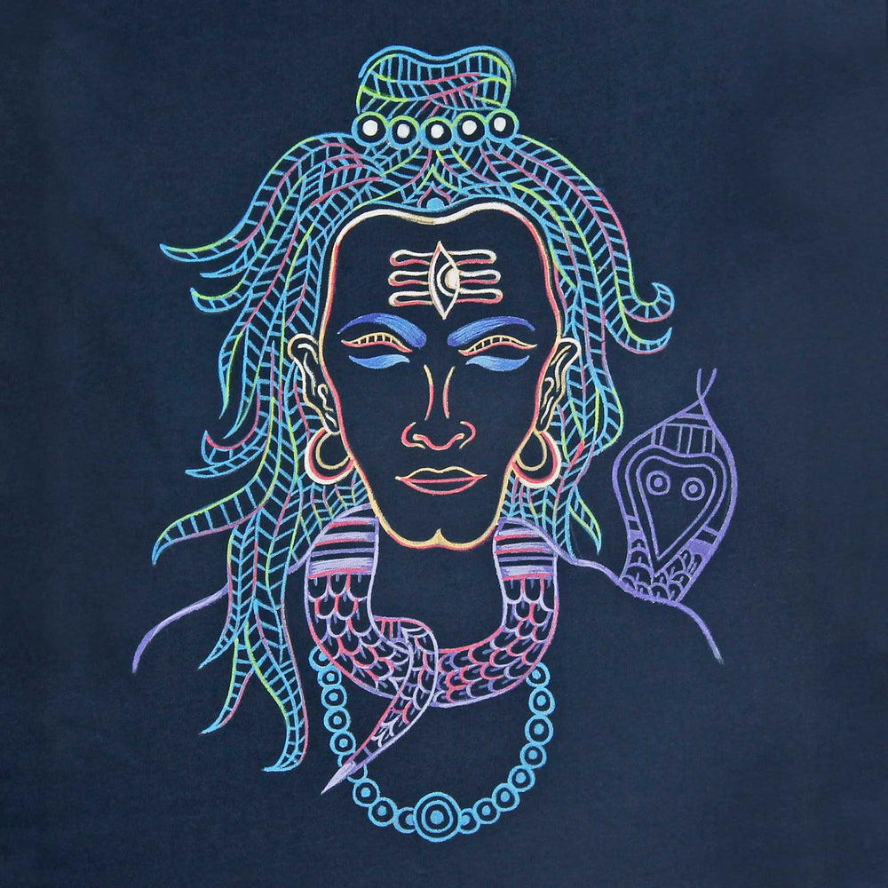 ad06ec18 Buy handpainted in gond art lord shiva t shirts online india with COD