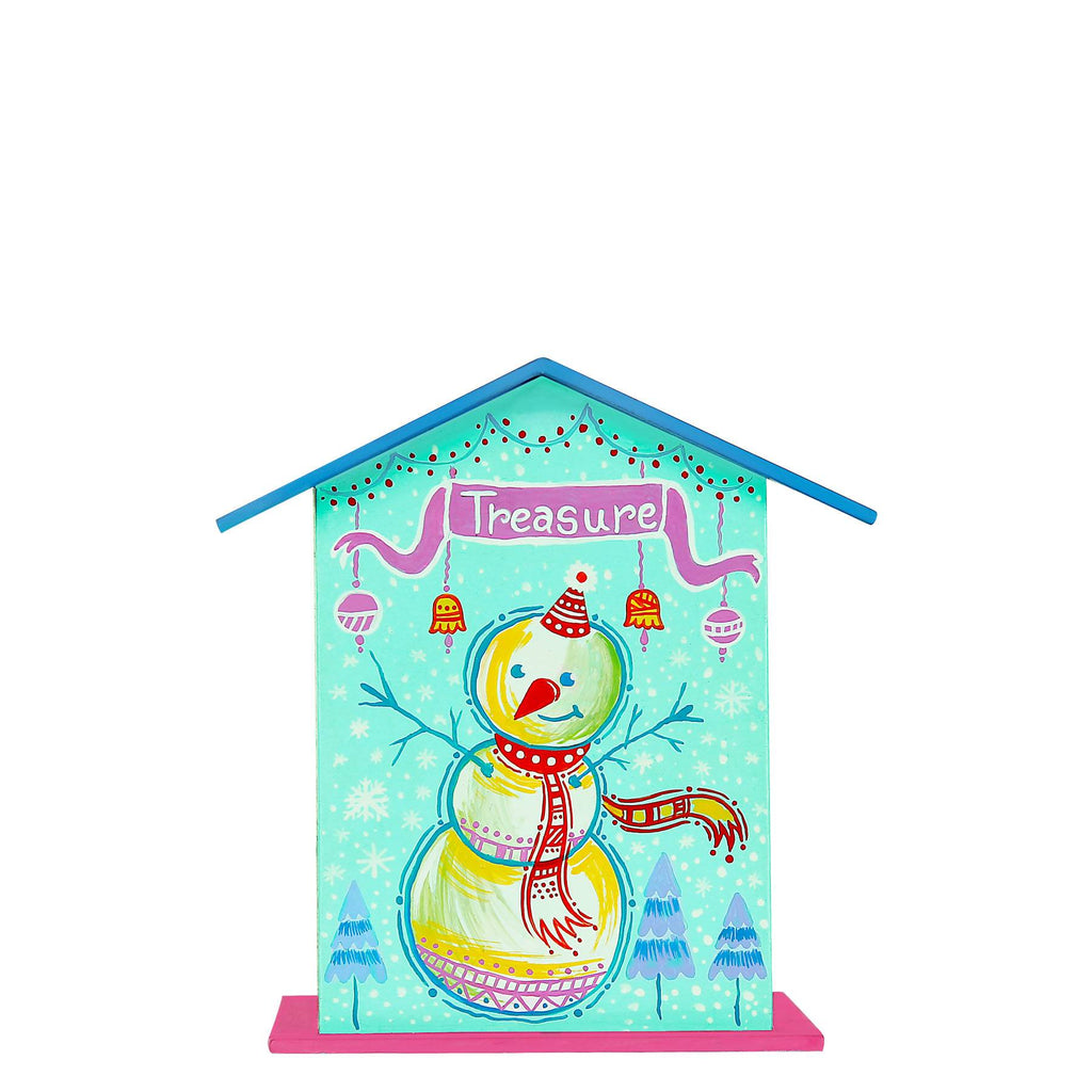 snowman-blue-piggy-bank-madhubani-art-handpianted-wooden-coin-bank-for-kids-online