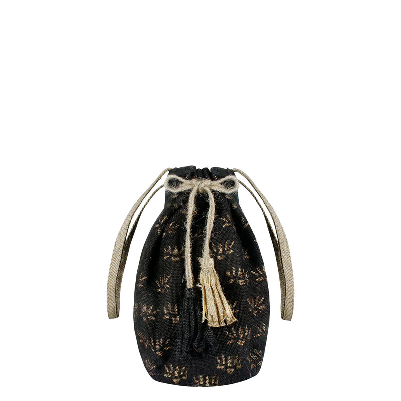 Tassel-Emperor-Block-Printed-Eco-Friendly-Jute-Female-Shoulder-Bag 3