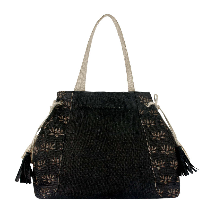 Tassel-Emperor-Block-Printed-Eco-Friendly-Jute-Female-Shoulder-Bag 4