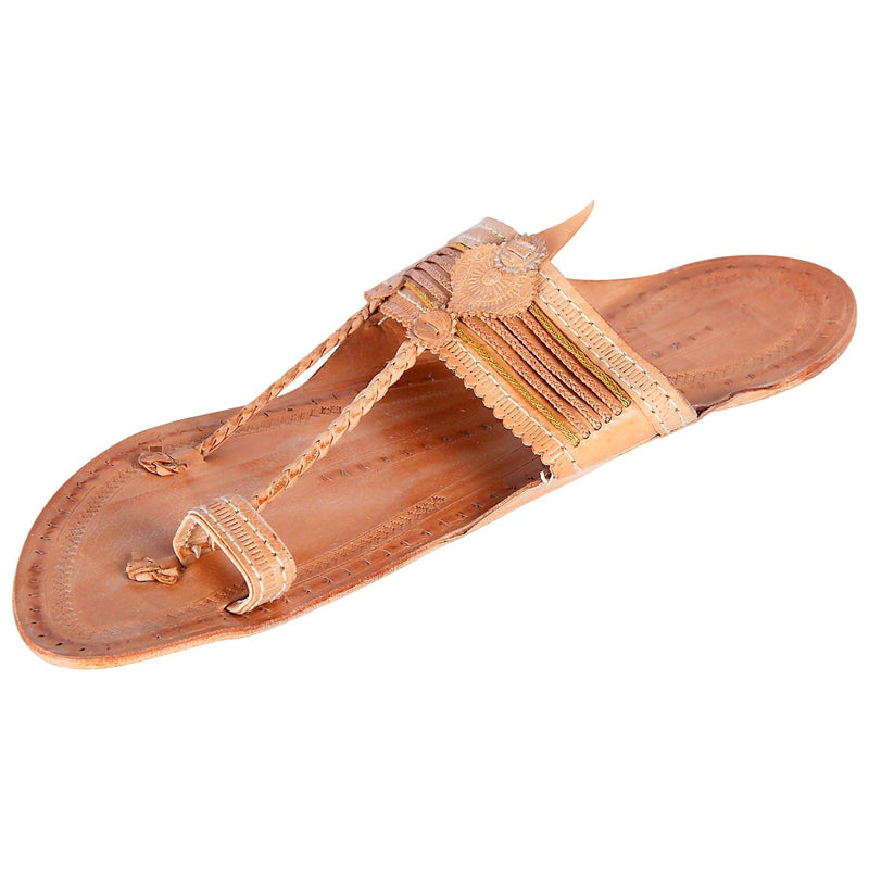 Thread On Strap Kolhapuri Slip on