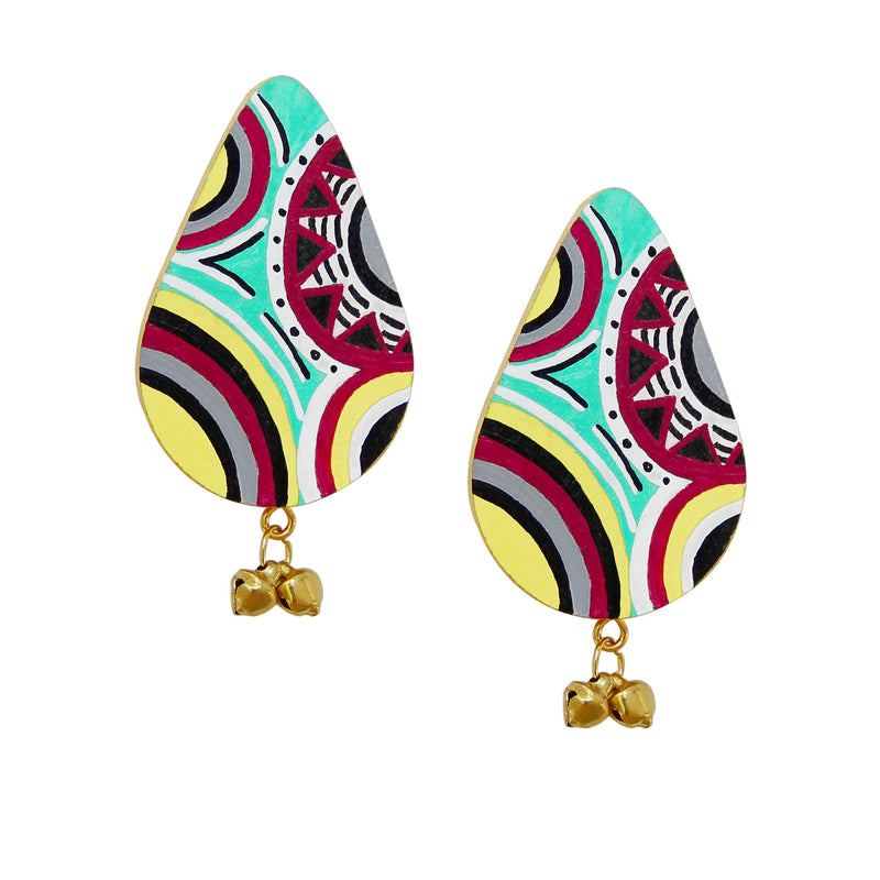 buy-colorful-african-art-wooden-hand-painted-earrings-online-india