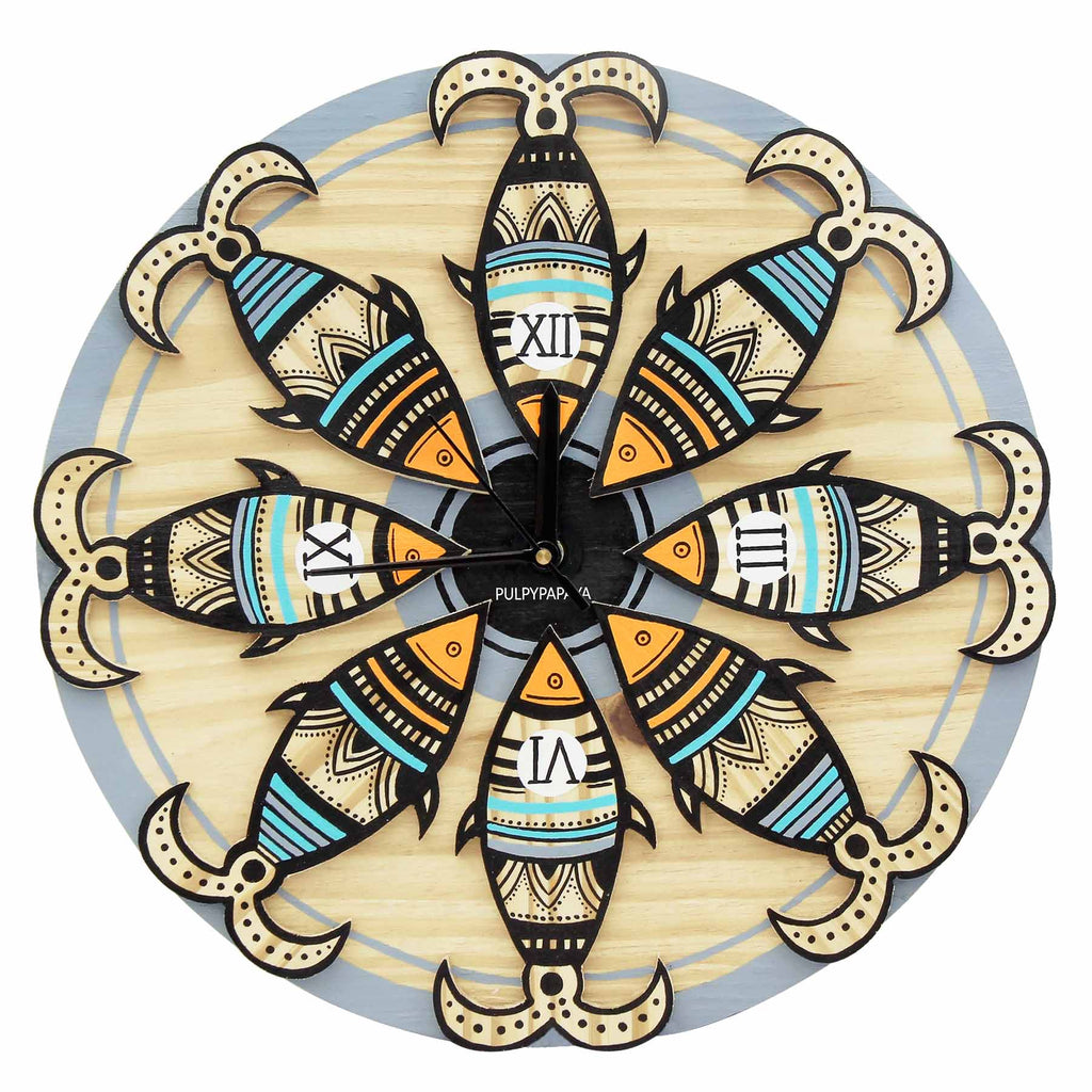 buy-madhubani-art-designer-wall-clock-online-india