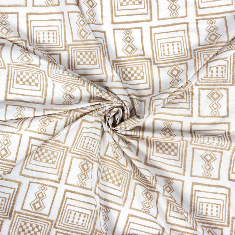Buy designer hand block printed cotton dress material unstitched fabric online India COD at crafinno.com