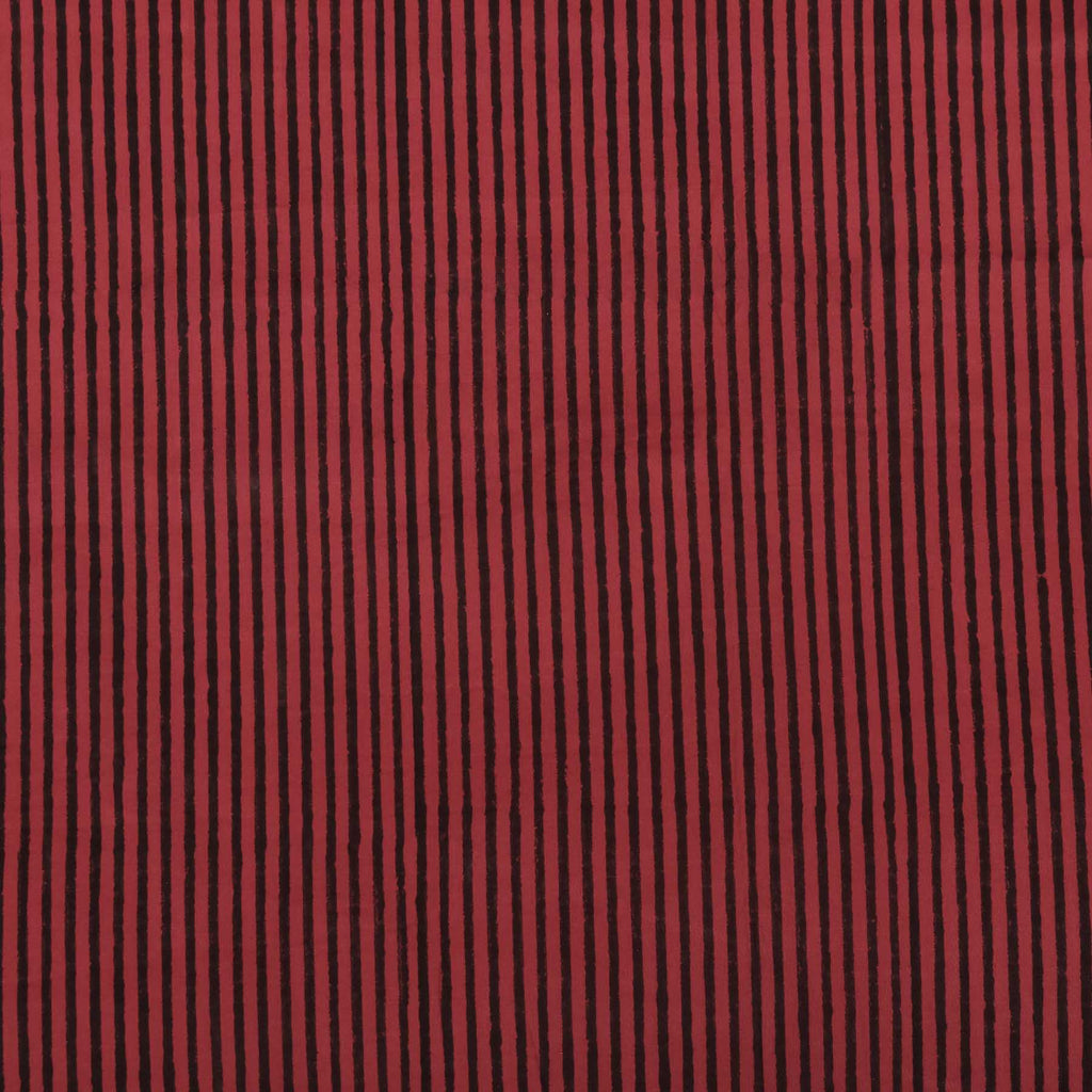 beautiful red and black stripes in trend on pure cotton running fabrics online shopping handcrafted at crafinno.com