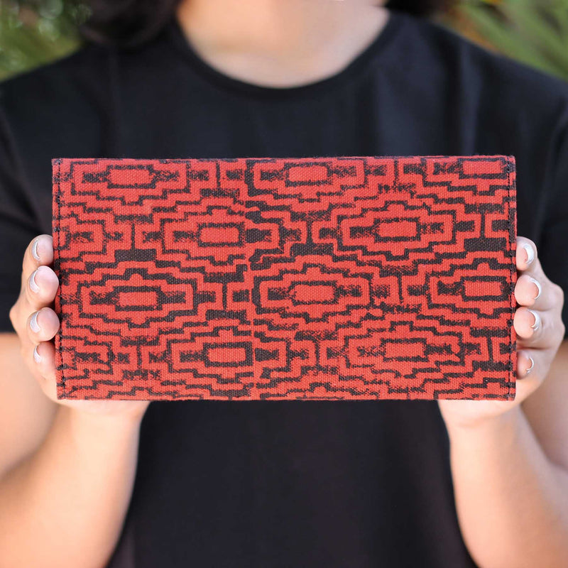 buy block print multiple card slots mobile pocket clutches online cotton fabric in india  handcrafted by crafinno.com