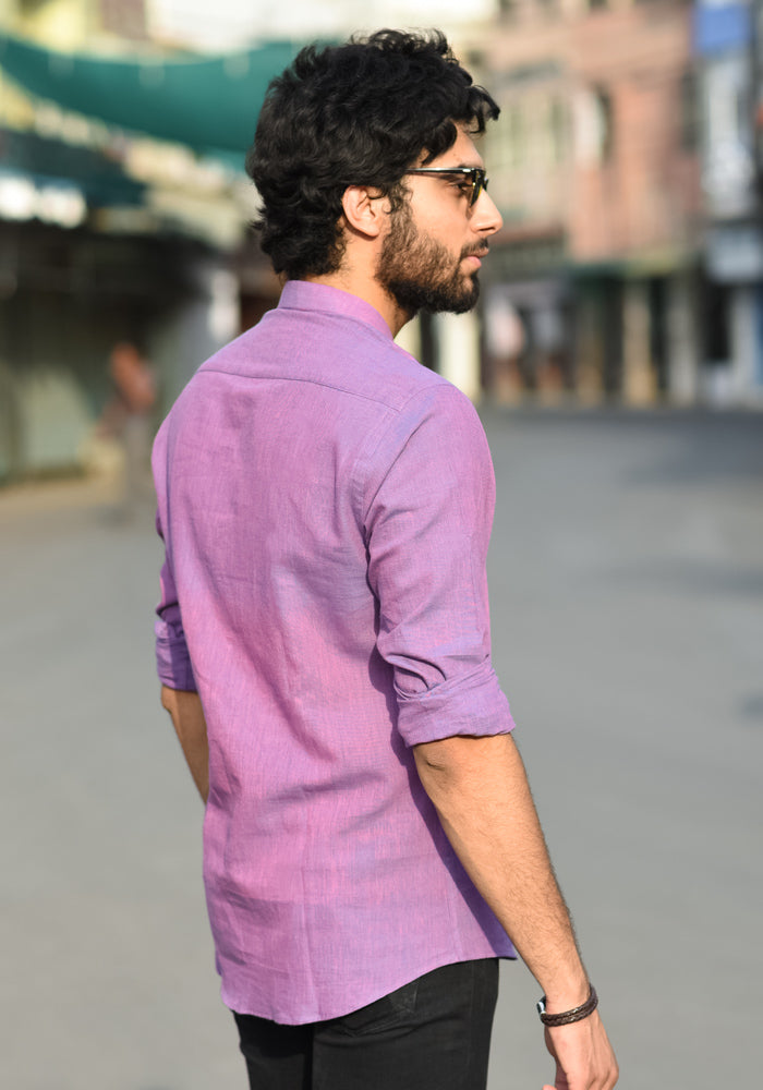buy purple top quality club wear evening shirts best shirts online mens shirts exclusive range round collar samefit at crafinno.com