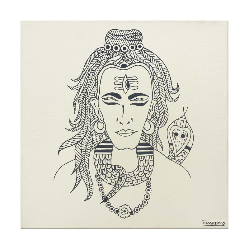Monochrome Shiva Painting