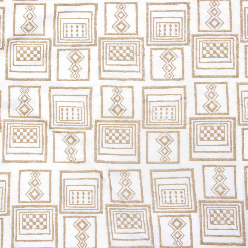 Buy white Indian cotton block printed fabric store online cloth material blouse piece designed by crafinno.com