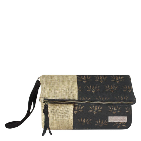 Cross Arrow Jute Clutch