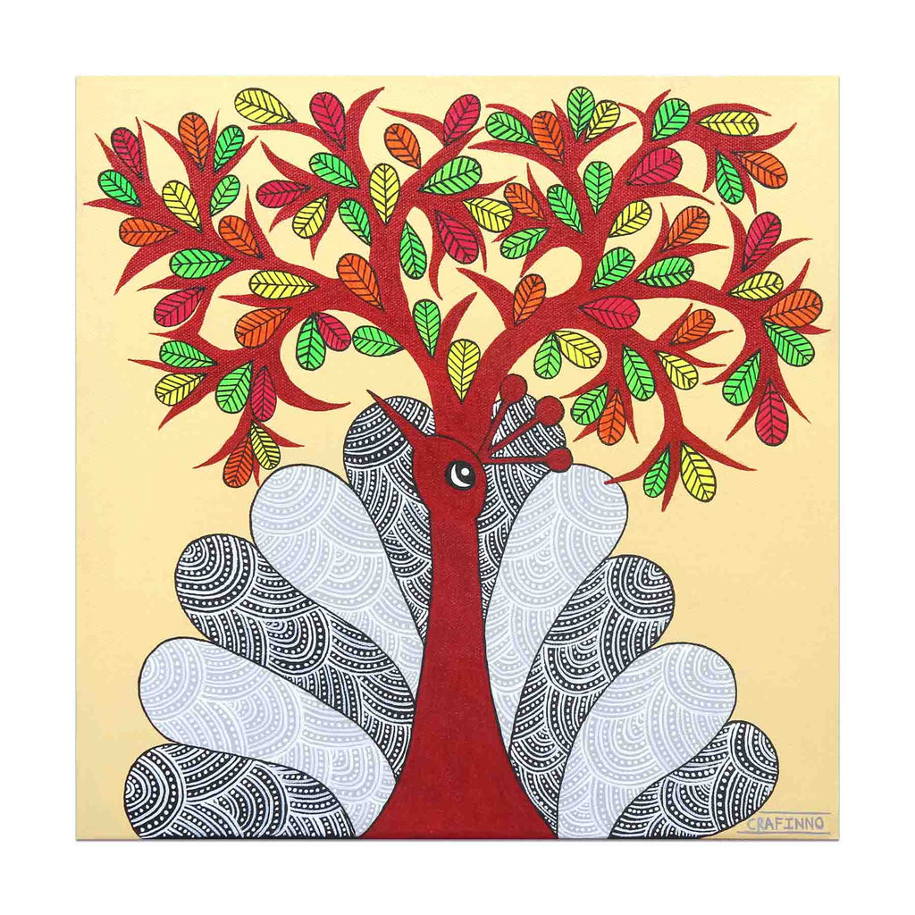Peatree in Gond Painting