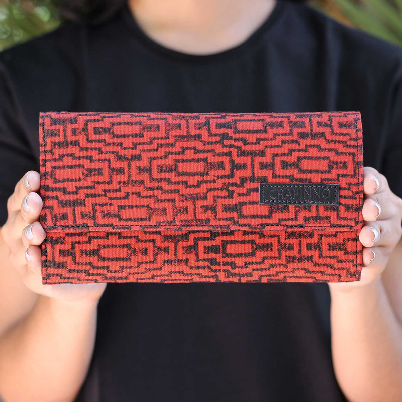 buy designer authentic block printed clutches canvas wallets bags online handmade by crafinno.com