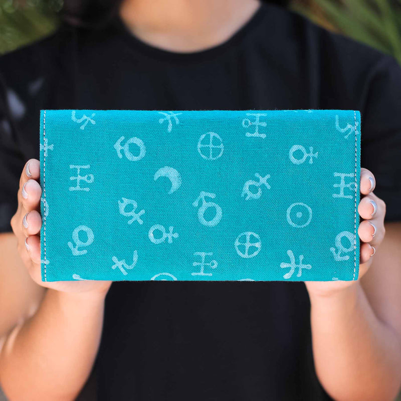 buy Hindu mythology hand block printed women wallets clutches in trend handmade by crafinno.com