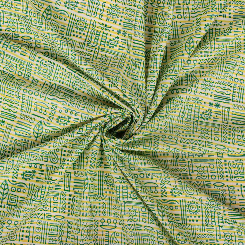 Buy Indian block printied pure cotton running fabrics online designer suit material handcrafted at crafinno.com