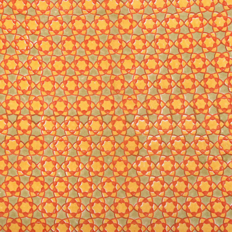 Hand block printed fabric store online India yellow cotton material jaipur style dress material at crafinno.com