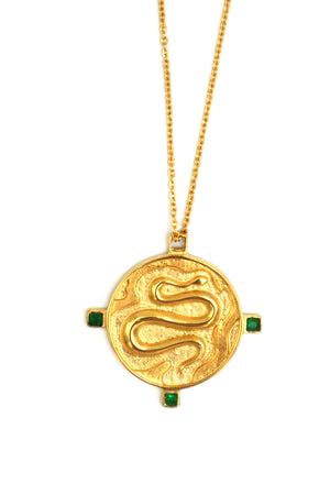 OPHIS // Le Collier Serpent Emeraude