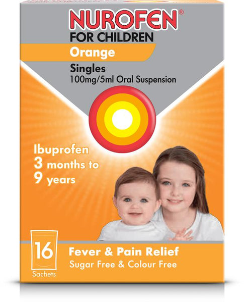 Nurofen for Children Orange Singles x16