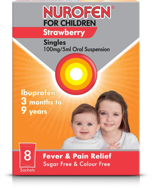 Nurofen for Children Strawberry Singles x8