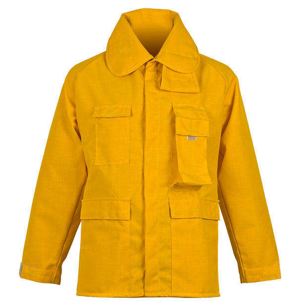 BRUSH COAT — 6.0 oz Nomex Yellow - CrewBoss