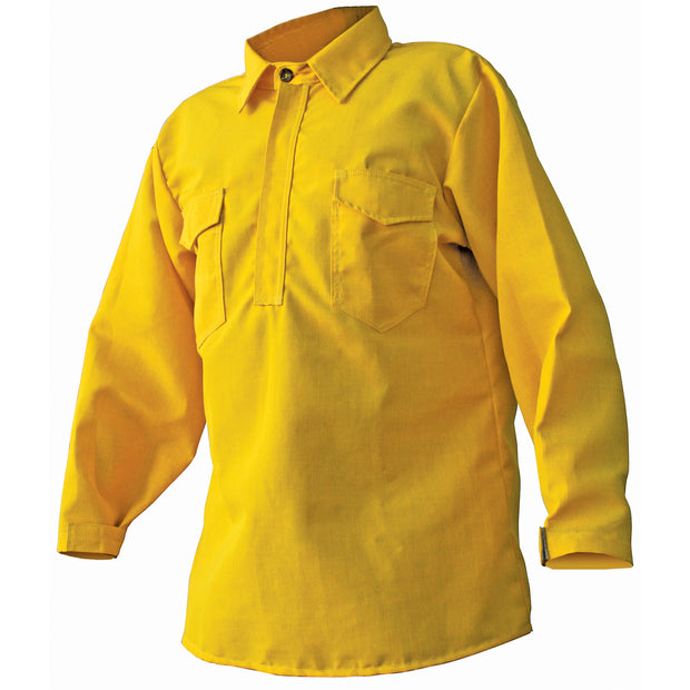 HICKORY BRUSH SHIRT— 5.8 oz Tecasafe Yellow - CrewBoss