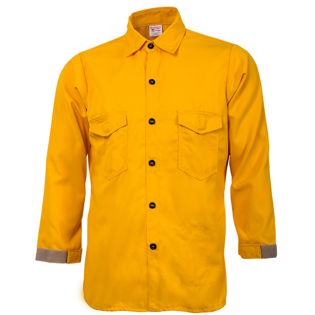 TRADITIONAL BRUSH SHIRT — 5.8 oz Tecasafe Yellow - CrewBoss