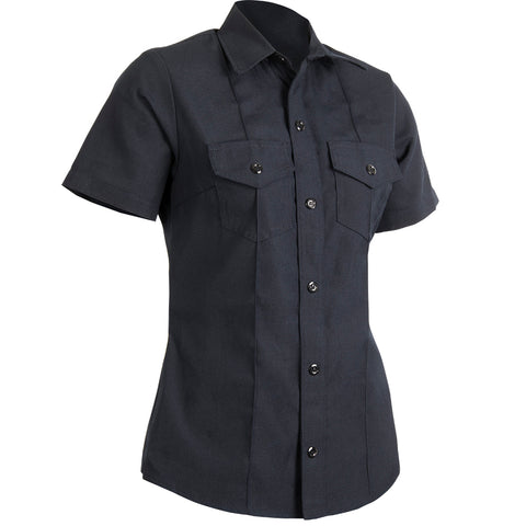 WOMEN'S GUARDIAN SHORT SLEEVE CLASS B SHIRT — 4.5 oz Nomex Midnight Navy - CrewBoss