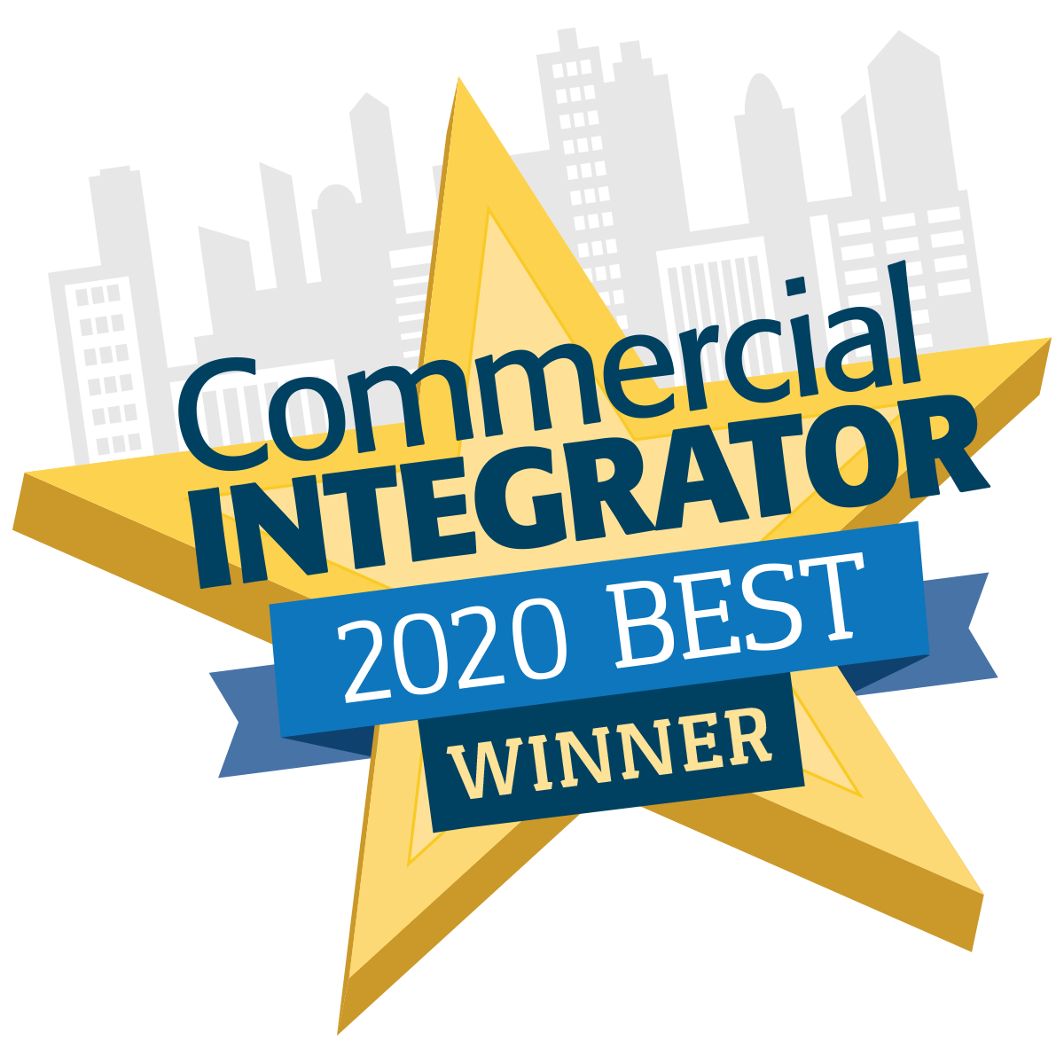 "We're excited to share that our new 21.5"" Outdoor Capacitive Touch Display is a winner of the 2020 Commercial Integrator Best Award"