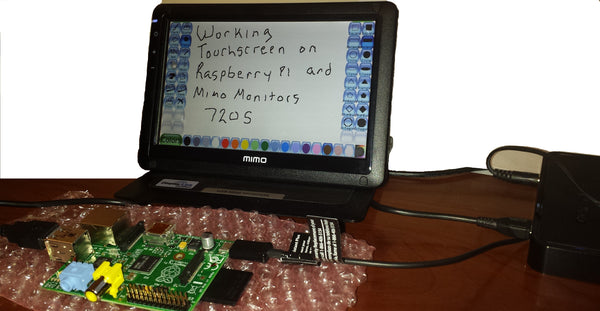 Using Mimo Monitor Touch Screens for Raspberry Pi