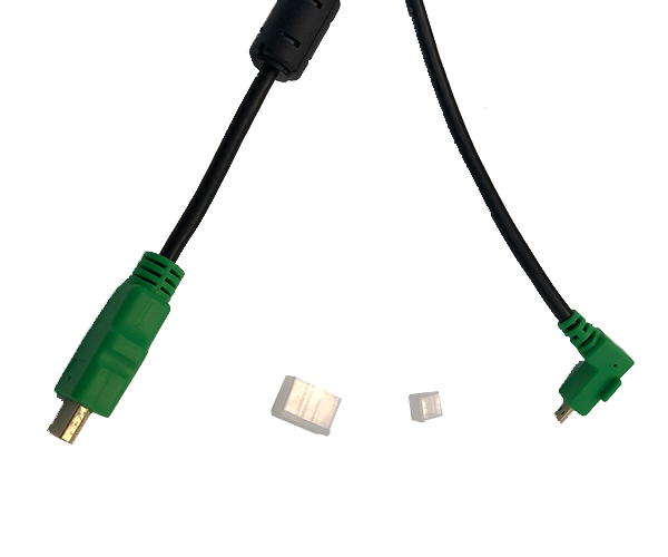 1.5M (4.9') Right Angle Cable for Mimo Monitors UM-1080CP Family, Green, (CBL-CP-HDMI)