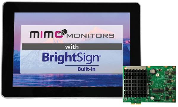 "Mimo Vue 10.1"" BrightSign Built-in with Capacitive Touch Display with LED Lights (MBS-1080C-POE-L)"