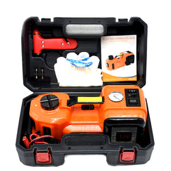 12V 5.0 Ton Electric Hydraulic Floor Jack Lifting Tool 3 in 1 Set Whole Set of Car Repair Tool Kit Electric Car Jacks