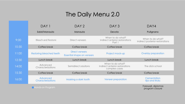 Daily Menu 2.0 3rd Edition | 22-25 June 2020