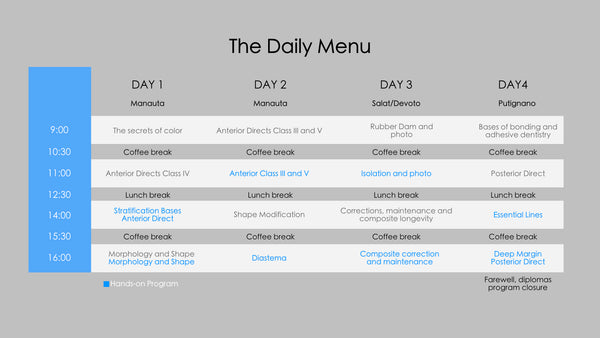 Daily Menu 47th Edition | 16-19 November 2020
