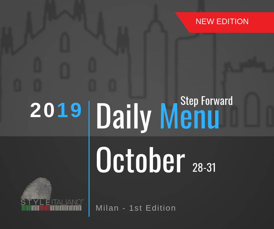The Daily Menu Step Forward 1st Edition | Milan, 28-31 October 2019