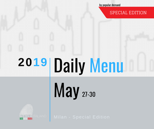 The Daily Menu Special Edition Milan 27-30 May 2019