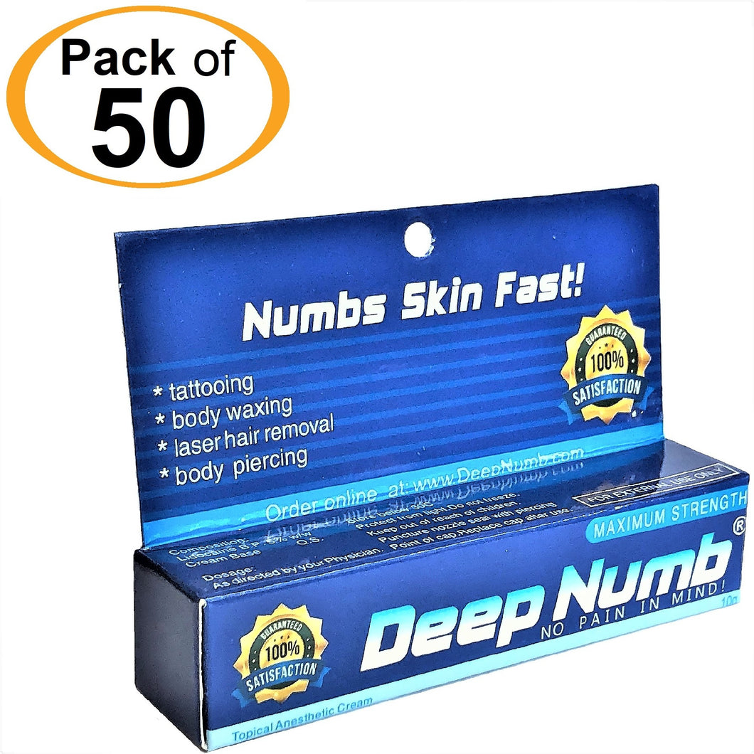 50 Tubes x 10g DEEP NUMB® Topical Numbing Cream