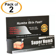 2 Tubes x 30g SUPER NUMB® Topical Numbing Cream